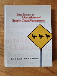 Picture of Introduction to operations, 2013, Bozarth et al