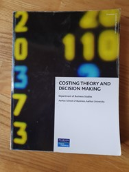 Picture of Costing theory and decision making, Pearson, 2009