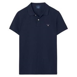 Picture of Gant Polo T-shirt i marineblå